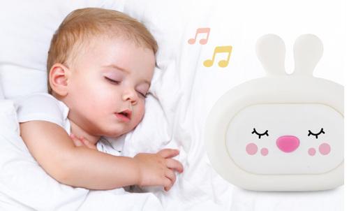 InnoGIO Silicone Night Light with Sounds GIOsleeping Bunny GIO-134 (2)