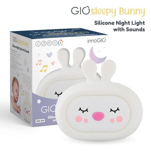 InnoGIO Silicone Night Light with Sounds GIOsleeping Bunny GIO-134 (1)