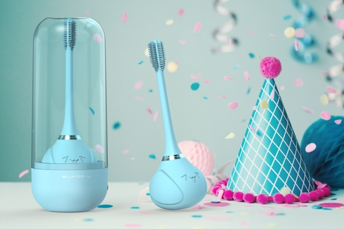 InnoGIO Sonic electric toothbrush for children with 360 ° function - blue (17)